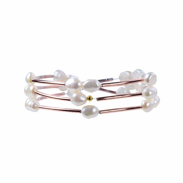 3 Warp Pearl Bracelet