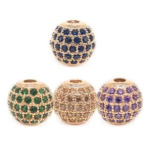 Brass Rhinestone Beads