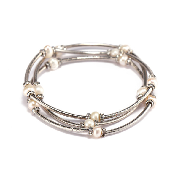Handmade Mutilayer Copper Pearl Bracelet For Women