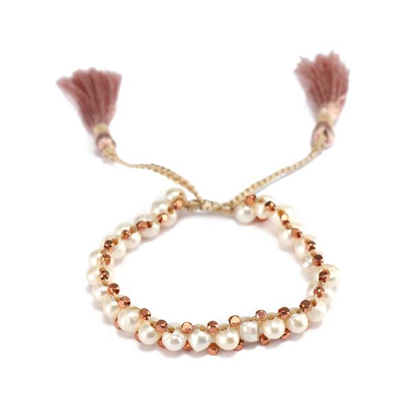 Handmade Natural Pearl Bead Bracelet