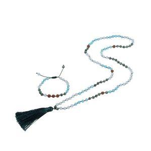 Exotic Mala Necklace Bracelet Set