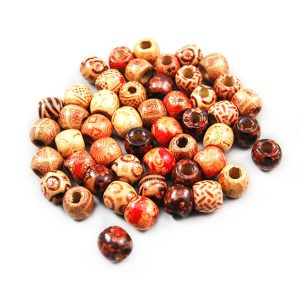 Painted Wood Beads