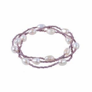 Seed Bead Pearl Bracelet