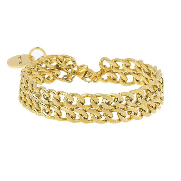 Stainless Steel Cuban Link Stack Bracelet