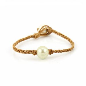 Vintage Braiding Leather Pearl Bracelet