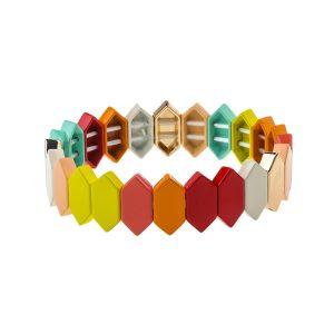 Dazzle Colorful Enamel Bracelet