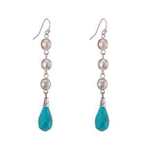 Handmade Turquoise Drop Earrings