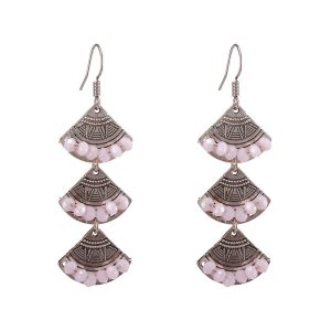 Alloy Crystal Drop Earrings
