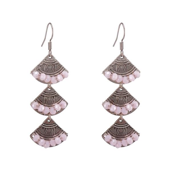 Alloy Crystal Drop Earrings