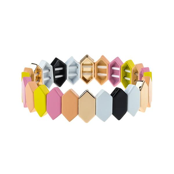 Fresh Pink Enamel Bracelet