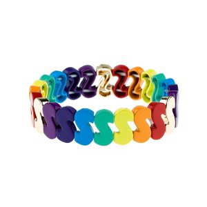 S Sharp Rainbow Enamel Bracelet