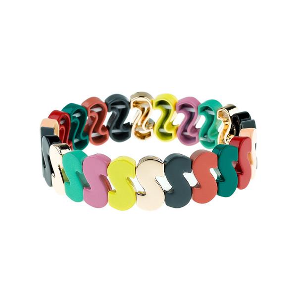 S Sharp Rainbow Enamel Bracelet