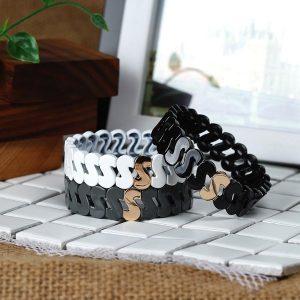 S Sharp Stackable Enamel Bracelet