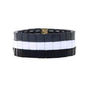Vegan Square Enamel Bracelet